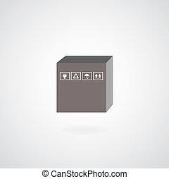 vector cardboard box symbol