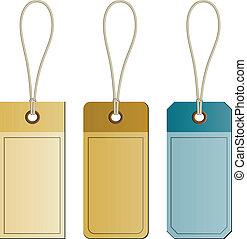 vector cardboard tags