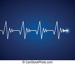 Vector Cardiac Frequency - Vector Illustration of a Cardiac ...