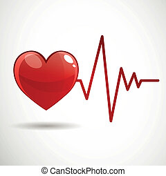 Vector Cardiac Frequency - Vector Illustration of a Cardiac...