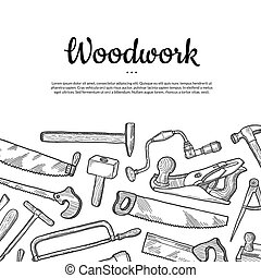 Vector carpentry background with place for text