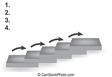 vector, carrera, ladder., ilustración
