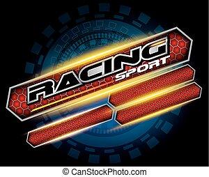 vector, carreras, logotipo, diseño, deporte, concepto