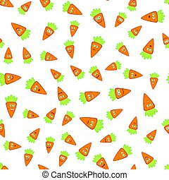 Vector Carrots Seamless Pattern