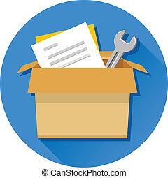 Vector Carton Box with Tools