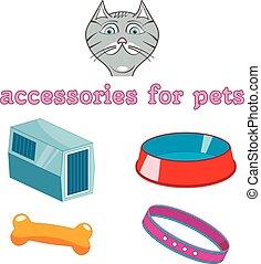 vector cartoon accessories for animals.