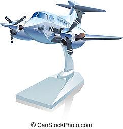 Vector Cartoon Airplane