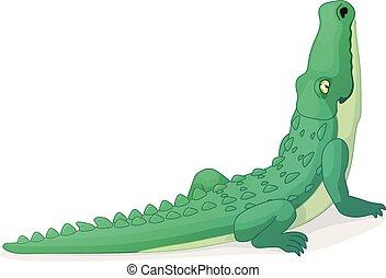 Baby gator sketch. Baby american alligator on log in ...