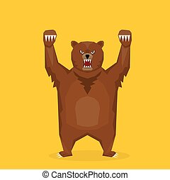 vector cartoon bear