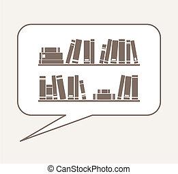 Vector cartoon books in bubble
