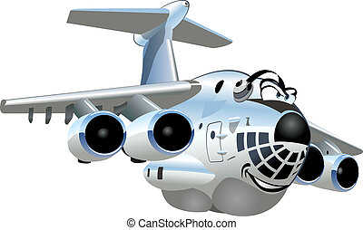 Cartoon Cargo Airplane. Available EPS-10 vector format separated by groups and layers for easy edit