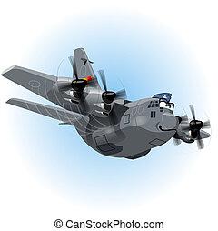 Vector Cartoon Cargo Airplane