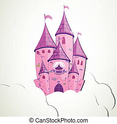 Vector Cartoon Castle
