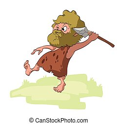 Vector Cartoon Caveman
