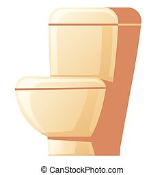 Vector cartoon ceramic toilet bowl