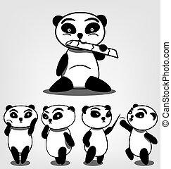 vector cartoon character mascot panda