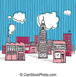 Vector cartoon city / Neighborhood