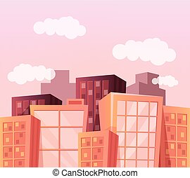 Vector cartoon city