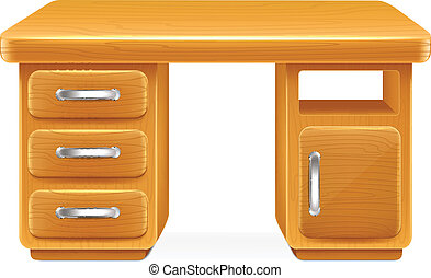 Vector Cartoon Computer Table