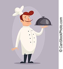 Vector cartoon cook