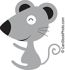 vector cartoon cute mouse