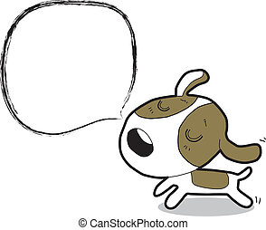 vector cartoon dog
