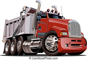 Vector Cartoon Dump Truck. Available EPS-10 vector format ...