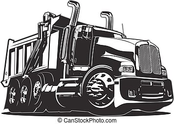 Vector Cartoon Dump Truck. Available EPS-8 vector format ...