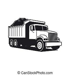 Vector Cartoon Dump Truck. Tipper truck. Vector Cartoon Dump Truck. Vector Cartoon Dump Truck. Tipper truck.