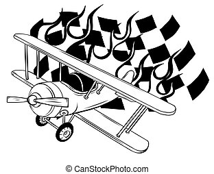 Vector Cartoon Fighter Plane. Twin-engine, variable-sweep ...