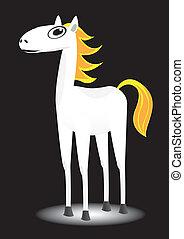 vector cartoon horse.