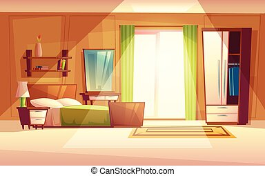 Teenager Bedroom Vector Cartoon Illustration Of Teen Girl Or Boy