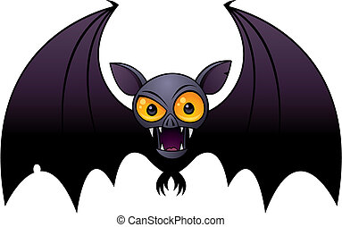 Halloween Vampire Bat - Vector cartoon illustration of a...