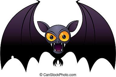 Halloween Vampire Bat - Vector cartoon illustration of a ...