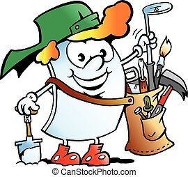 Happy Golfer Paper Mascot