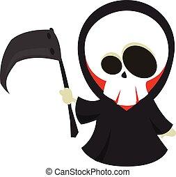 Halloween death with scythe