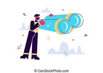 Vector cartoon illustration of Happy funny