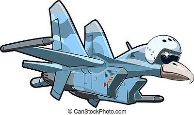 Cartoon Jetbird 4 - Vector Cartoon Jetbird 4. Available EPS-...