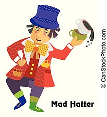 Vector cartoon Mad Hatter