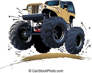 Cartoon Monster Truck - Vector Cartoon Monster Truck. ...