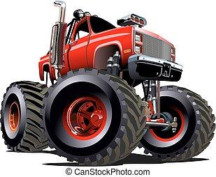 cartoon monster truck vector illustration clip art vector clipart
