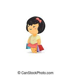 Chibi Girl Shopping
