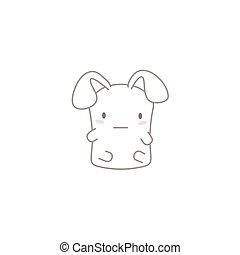 Cute Kawaii Bunny with a Poker Face