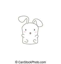 Cute Kawaii Bunny with a Surprise F