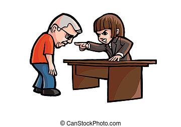 Vector Cartoon Office Worker Fired