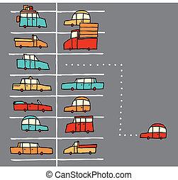 Vector cartoon parking spot