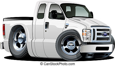 Vector cartoon pickup - Vector cartoon muscle pickup....