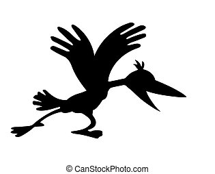 vector cartoon ravens on white background