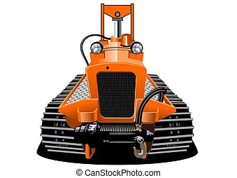 Vector Cartoon RC crawler isolated