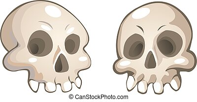 vector cartoon skulls